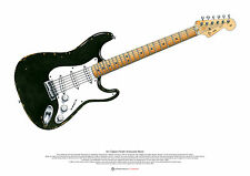 Eric Clapton's Fender Stratocaster 'Blackie' ART POSTER A2 size