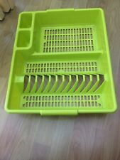 lime green dish drainer