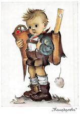 """vintage unused greeting cards Ars Sacra Hummel """"the school boy """"1614"""""""