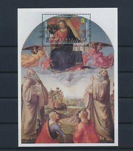 LO43825 Turks & Caicos 2002 christmas religious art good sheet MNH