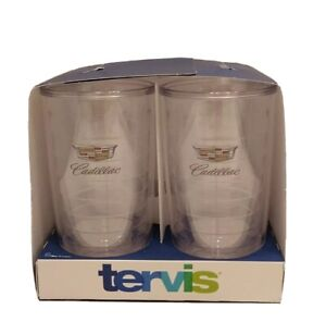 Tervis Tumbler Cadillac Emblem 16 oz Tumblers Set Of 4 Made In U.S.A.