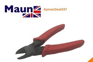 """Maun Diagonal CUTTER Nipper 150mm 6"""" With Red Sleeves GENUINE ENGLAND"""