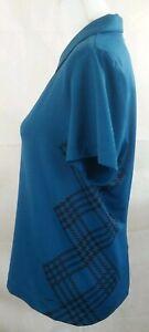Nike Golf womens medium 1/4 zip polo shirt blue black EUC