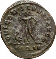 DIOCLETIAN Authentic Ancient 292AD Rome Genuine Roman Coin JUPITER EAGLE i84734