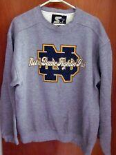 NOTRE DAME UNIVERSITY med sweatshirt Fighting Irish logo crewneck 1990s Starter