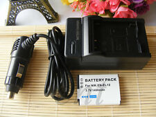 EN-EL12 Battery 1400mAh+Charger For Nikon S9600 S9700 S9500 P340 AW120 P330