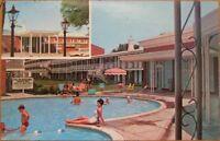 Mobile, AL 1960 Chrome Motel Advertising Postcard, Pool - Alabama