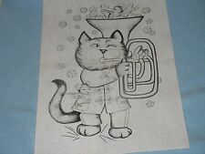 * TRI CHEM 8383 STRIKE UP THE BAND CAT MOUSE MICE Picture to paint TRICHEM