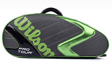 Wilson Pro Tour Badminton Bag 6 Pack Racquets Backpack Green NWT WRZ-605606