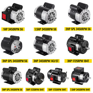 VEVOR Air Compressor Electric Motor 1725/3450RPM Single Phase for Air Compressor