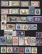 US, 1960 full year set with Credo, 35 stamps, MNH