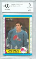 1989-90 OPC O-Pee-Chee Joe Sakic Rookie Graded BCCG 9