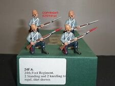 FRONTLINE FIGURES 24F6 ZULU WAR BRITISH 24TH FOOT STANDING + KNEELING TO REPEL