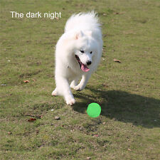 Night Luminous Glow in The Dark Rubber Ball Dog Fetch Toy Outdoor Play Game Toys