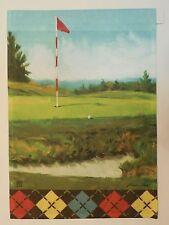 Golf, Putting Green, Red & White Flag, Sand Trap, Argyle Border, Garden flag