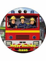 FIREMAN SAM Edible Wafer Paper Birthday Cake Decoration & 12 Cupcake Toppers