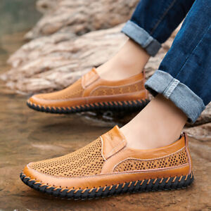 Mens Mesh Breathable Soft Walking Flats Driving Shoes Pumps Slip On Loafers