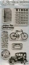 Tim Holtz Visual Artistry Clear Stamps PLAYFUL JOURNEY
