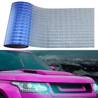 Light Blue Car Headlight Sheet Sticker 3D Cat Eyes Look Tint Film Wrap 30x100CM