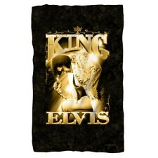 New Black & Gold 36x58 Elvis Presley The King Fleece Throw Gift Blanket Picture