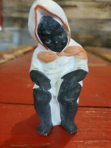 Antique Herbach German Black American Child Sitting On Chamber Pot  Figurine