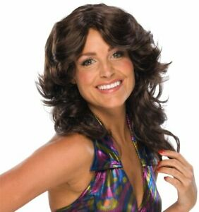 Deja Vu Wig 70's Feathered Fancy Dress Up Halloween Costume Accessory 2 COLORS