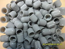 50 x  Grey  Plastic Car, Tube & Cycles Valve Dust Cap Brand New In Packet
