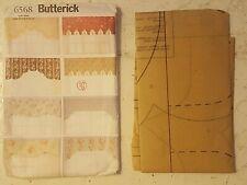Butterick 6568 sewing pattern reversible valances home decor window treatment