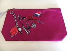 New LANCOME Makeup Zippered Cosmetic Pink Bag