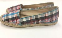 Franco Sarto Artist's Collection A-Whip Loafers Moc Espadrille Flat Canvas 7.5