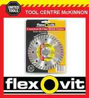 "FLEXOVIT 5"" / 125mm TURBO RIM DIAMOND WHEEL / BLADE FOR BRICK & CONCRETE ETC"