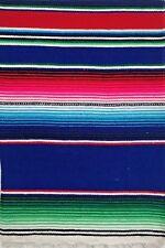 Mexican  Blanket Sarape Serape Shawl Scarf Cloak Rug Rainbow Yoga Picnic Camping