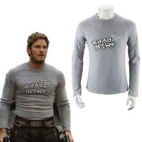 Men Guardians of the Galaxy 2 Starlord Shirt Peter Jason Quill Cosplay Costume Z