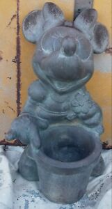 "Vintage 1997 Disney Minnie  Mouse Garden Planter Statue 11"""
