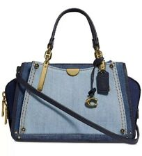 ❤️Coach Dreamer 21 Mini Denim/Gold 66933 In Colorblock