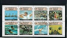 OLYMPIC OF  LOS ANGELES {U.S} 1984  STATE OF OMAN  {8 stamps} S/Sheet.