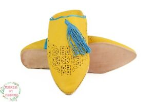 Women's Babouche Moroccan slippers Moroccan Engraved Tassels slippers leather