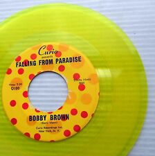BOBBY BROWN Falling from Paradise 1963 TEEN POP with group YELLOW VINYL 45 e4882