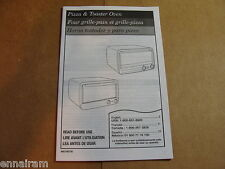 Hamilton Beach Proctor Silex Owner's Manual Pizza & Toaster Oven 31120, 31125