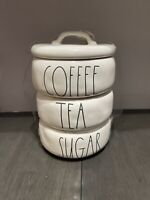 Rae Dunn By Magenta Coffee Tea Sugar Stackable Canister Set (BRAND NEW)