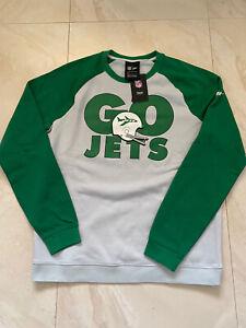 Nike New York Nyc Jets Go Jets Pullover Sweatshirt Men L Grey Green New