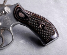 Altamont S&W K / L Frame Round Classic Wood Grips Silverblack Checkered
