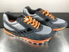 BROOKS Men's Regent Vintage Anthracite Dark Grey Orange Running Shoes Size 7.5