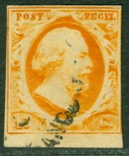 EDW1949SELL : NETHERLANDS 1852 Sc #3 Used. Deep color w/ light cancel. Cat $125.