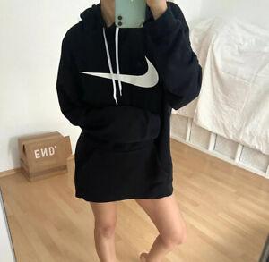 Nike Dri Fit Hoodie Kapuzen Pullover Longpulli S M Oversize Blogger Longshirt