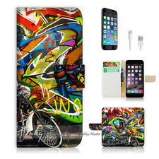 ( For iPhone 6 Plus / iPhone 6S Plus ) Case Cover Graffiti and Motocycle P0144