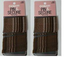 """Lot of 2 Conair Pin & Secure XL Bobby Pins Brown 2.75"""" NWT 2 x 48 = 96 pins"""