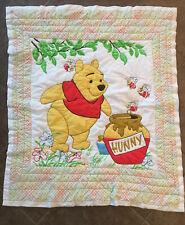 Vintage Disney Winnie The Pooh Honey Jar Baby Blanket Quilt