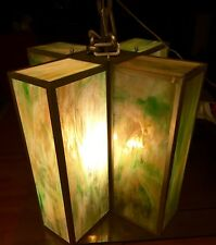 """Vintage Stained Glass Lamp Modern Fixture 27x21"""" NU$3,200 L.A,Calif."""