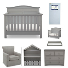 Serta Barrett 7-Piece Nursery Furniture Set, Grey